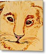 Lion Cub Metal Print by Elizabeth S Zulauf