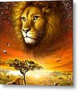 Lion Dawn Metal Print by Adrian Chesterman