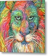 Lion Explosion Metal Print