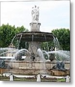 Lion Fountain - Aix En Provence Metal Print