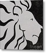 Lion Graphic King Of Beasts Metal Print by M C Sturman