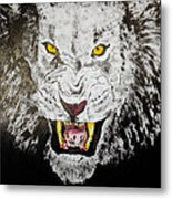 Lion In The Darkness Metal Print