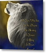 Lion Adoration Metal Print