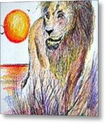 Lion Of Lions Metal Print