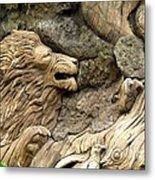 Lion On The Tree Of  Life Metal Print
