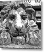 Lion Statue Guard Metal Print