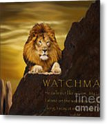 Lion Watchman Metal Print