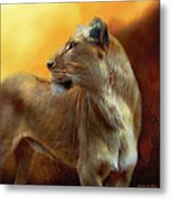 Lioness Is Near Metal Print