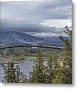 Lions Gate Bridge From Stanley Park Metal Print