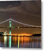 Lions Gate Bridge In Colour Metal Print by Naman Imagery