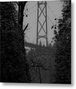 Lions Gate Bridge Metal Print by Nancy Harrison