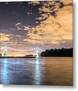 Lion's Gate Bridge Vancouver At Night Metal Print