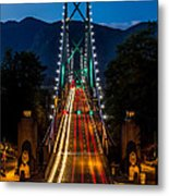 Lion's Gate Bridge Vancouver B.c Canada Metal Print