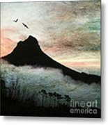 Lion's Head Cape Town Metal Print