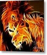 Lions In Love Metal Print by Pamela Johnson