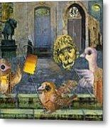 Lions In The Night Metal Print by Nekoda  Singer
