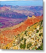 Lipan Point View On East Side Of South Rim Of Grand Canyon-arizona   Metal Print