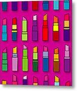 Lipsticks Pattern Metal Print