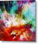 Liquid Colors - Enamel Edition Metal Print