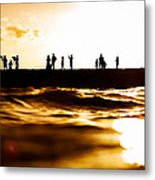 Liquid Gold Metal Print by Doug Falter