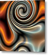 Liquid Mercury And Rust 2 Metal Print