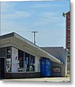 Liquor Store And Sign  Metal Print