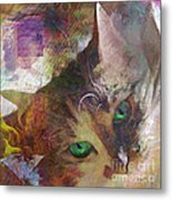 Lisa Beckons - Square Version Metal Print