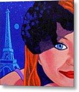 Lisa Darling - Paris - Irish Burlesque Metal Print