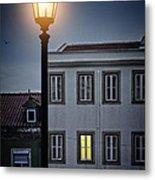 Lisbon Street Lamp Metal Print