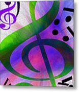 Listen To The Music Metal Print