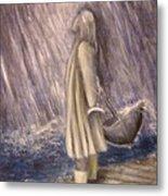Listen To The Rhythm Of The Falling Rain.. Metal Print