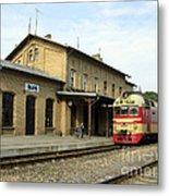 Lithuania. Silute Train Station. 2008 Metal Print