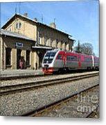 Lithuania. Silute Train Station. 2009 Metal Print