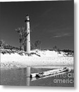 Litle Sable Light Station - Film Scan Metal Print
