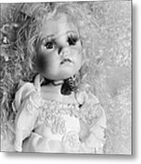 Little Angel In Black And White Metal Print