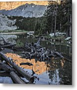 Little Bear Peak Reflection Metal Print
