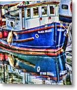Little Blue Boat Hdr Metal Print