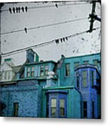 Little Blue Houses Metal Print