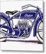 Little Blue Indian Metal Print
