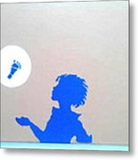 Little Boy Blue Has Lost His Shoe Metal Print