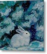 Little Bunny Foo Foo Metal Print