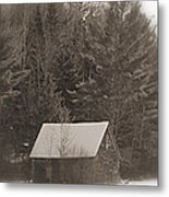 Little Cabin In The Woods Metal Print