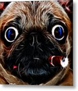 Little Capone - C28169 - Electric Art - With Text Metal Print by Wingsdomain Art and Photography