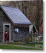 Little Cedar Shake Building Metal Print