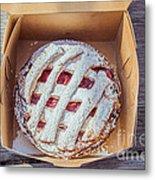 Little Cherry Pie Metal Print