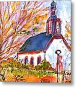 Little Church In Ginsheim Metal Print