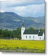 Little Church On Montana Prairie Metal Print