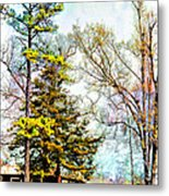 Little Country Shed Metal Print