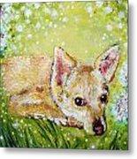 Little Dog Named Fern Metal Print