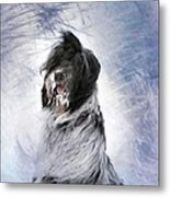 Little Doggie In A Snowstorm Metal Print